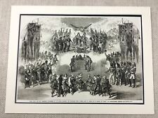 Victorian Christmas Pantomime Theater Play London Genuine Antique Print