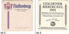 Furstenberg: rv: Goldener Bierdeckel 1991