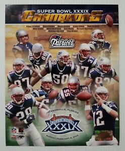 New England Patriots NFL Super Bowl 39 XXXIX Champions Collage 8x10 Photo File