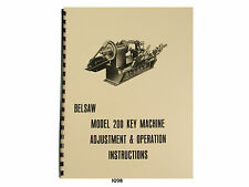 Foley Belsaw Model 200 Key Machine Adjustment and Operation Manual #1098