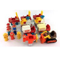 Lot Lil Playmates Vehicles & People Figures 18 Piece Set Playskool Vintage Toys