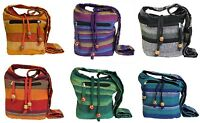 NEPAL SLING SHOULDER BAG cross body zip pocket multi colours FESTIVAL BOHO HIPPY