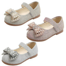 Kids Girls Flat Shoes Casual Bling School Party Shoes Princess Wedding Shoes