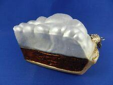 Chocolate Pie Dessert Old World Christmas Ornament Glass Baker Food NWT 32180