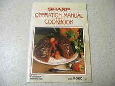 SHARP operational manual & cookbook carousel micrawave R-380D