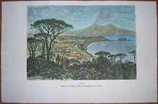 1875 Reclus print NAPLES NAPOLI, ITALY (#37)
