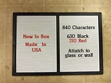 "NEW CHANGEABLE LETTER MESSAGE MENU BOARD PRICE SIGN  14"" X 20"" 840 characters"
