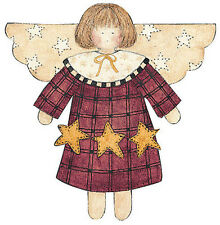 WALLIES STAR ANGEL wall stickers 25 prepasted decals country art deco room decor
