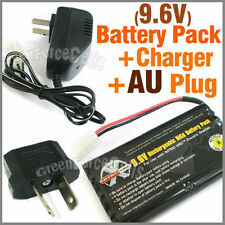 1 pc 9.6V Ni-Cd 1000mAh Rechargeable Battery Pack + Charger AU Plug