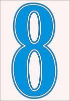 Football shirt number for just £1 (per digit)) IRON ON or heatpress Vinyl ROYAL