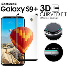Black - Full Curved Tempered Glass Screen Protector For Samsung Galaxy S9 Plus +