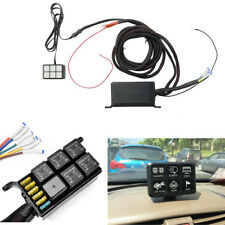 6 Key Switch Panel Relay Control Box +Wiring Harness for Ship or Rainy Operation