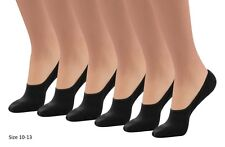 12 New Women Black Comfortable No-Show Liner Low Cut Peds Cotton/Blend socks