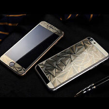3D Diamond Color Temper Glass Front w/ Back Screen Protector For iPhone 5S 6S 7