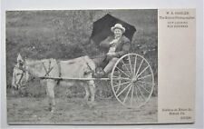 Eldred PA PHOTOGRAPHER in Mule Cart Advertising Postcard