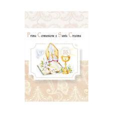 �˜…6 BIGLIETTINI INVITO BIGLIETTI INVITI FESTA COMUNIONE CRESIMA + BUSTA ID17�˜…