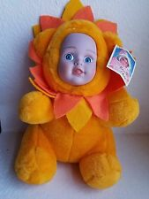 Baby Face Collection Sun Flower Plush Stuffed Baby Doll By Toy Works