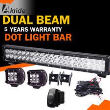 "20"" inch LED Work Light Bar Light Pods SUV Offroad Road Roller Bulldozer Crane"