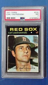 1971 Topps #530 CARL YASTREZSEMSKI PSA 7 Boston Red Sox ~SC03-852