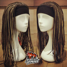Dreadlock Black Brown Wigs Dread Full Length Wig Long Synthetic Dreadlock Wig