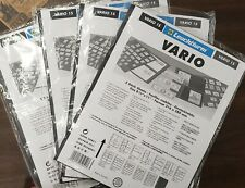 Vario 1S Leuchtturm Pages, 4 Packages - 20 Stock Sheets Total(E56)