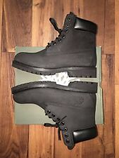 Timberland Men's Boot Size 8 Classic 6 Inch Premium Black Nubuck