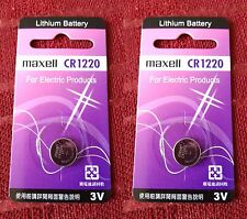 2 x Maxell CR1220 3V Lithum Battery For Car Keys And Other