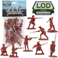 1:32 Revolutionary War British Regular Infantry Plastic Toy Soldier 16 LOD 10