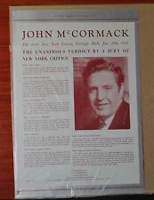 Vintage advertising- John McCormack Carnegie Hall -1933 Musical America magazine