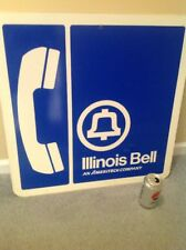 Vintage Illinois Bell Telephone Company Sign 24 X 24 Inches Ameritech Payphone