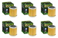Yamaha YZF 250 2001 - 2002 Oil Filter Set HiFlofiltro HF142 Pack of 6