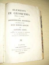 ELEMENTI DI  GEOMETRIA - GIOVANNI GORINI - PAVIA RIZZONI  1919
