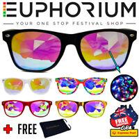 Euphorium Psychedelic Wormhole Kaleidoscope Glasses Diffraction Glasses Rave *AU