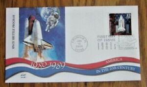 SPACE SHUTTLE PROGRAM 1980s FLEETWOOD PAUL & CHRIS CALLE CACHET FDC 2000 UNADDR