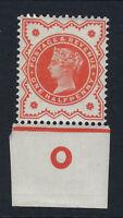 GB VICTORIA :1887 1/2d vermillion control O-IMPERF margins SG 197 mint