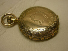Vtg Vigilant Gold Filled Pocket Watch Buck Deer Ornate Etched Parts or Repair