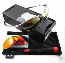 Oakley Romeo 1 X Metal Titanium w/ Gold + Ruby Polarized Vintage 17 yr w/ Box