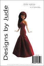 "Stargazer Doll Clothes Sewing Pattern 13"" Agatha Primrose & Revlon Tonner"