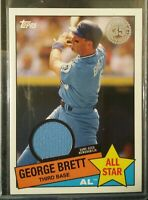 2020 Topps Series 2 35th Anniversary 1985 All Star Relic GEORGE BRETT SP JERSEY
