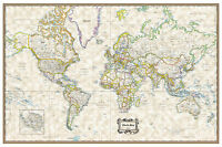 "World Classic Executive Wall Map Poster - 36""x24"" Rolled Paper 2020"