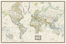 "World Classic Executive Wall Map Poster - 36""x24"" Rolled Laminated 2018"