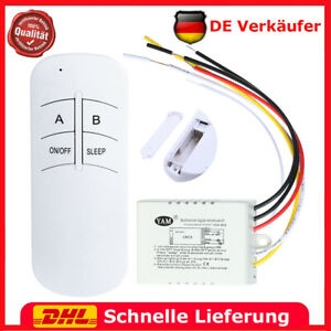 1 Kanal EIN AUS 220V 30m Digitaler Funkfernbedienungsschalter für Licht Lampe
