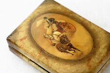 Russian Lacquer Box Tipayakov Fedoskino afternoon Ride Marked
