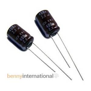 5x 2.2uF 400V 105°C ELECTROLYTIC CAPACITORS Radial KME Nippon Chemicon