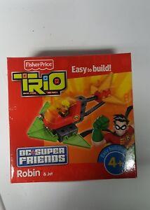 FISHER PRICE TRIO DC SUPER FRIENDS ROBIN & JET SET
