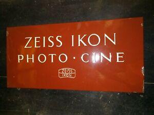 ZEISS IKON PHOTO CINE VINTAGE OLD ORIGINAL PORCELAIN ENAMEL SIGN PORCELAIN 1960