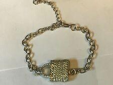 Wicker Handbag TG98 Fine English Pewter on a Anklet / Bracelet