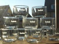 12 x Belair Airlines Saftglas | Juice Glass | NEU!