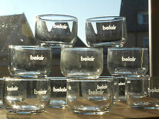 12 x Belair Airlines Saftglas | Juice Glass | NEU!