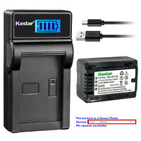 Kastar Battery LCD USB Charger for Panasonic VW-VBT190 VBT190 VW-VBT380 VBT380